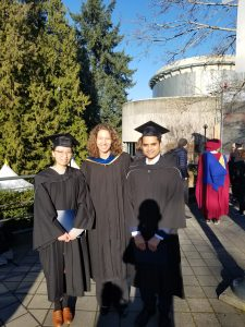 Congratulations on your MSc degrees, Amy and Zubair!!!
